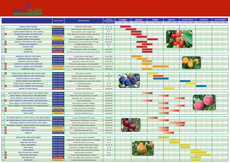 Zuliani vivai piante progettare parco e giardino - Calendario trattamenti piante da frutto ...